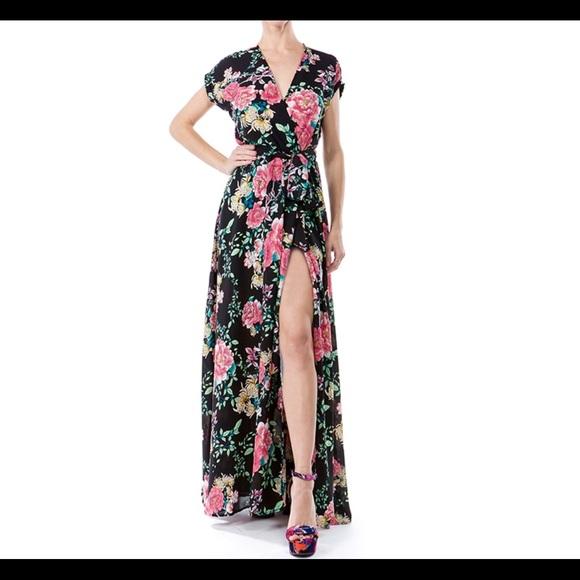 Meghan LA Dresses & Skirts - NWT MEGHAN LA Jasmine maxi dress black floral $425